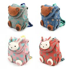 New Toddler Safety Harness Anti lost Bear Rabbit Backpack Strap Walker Baby Bags #Handmade