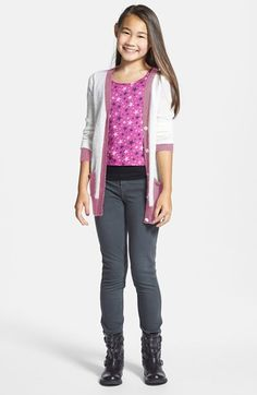 Tucker + Tate Cardigan & Jeggings (Big Girls)  available at #Nordstrom
