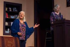 "Sister Silda (Terry) and Polly (Marsha) have a strained relationship in SCT""s production of Other Desert Cities, Cities, The Past, Sisters, Kimono Top, Relationship, Tops, Women, Style, Fashion"