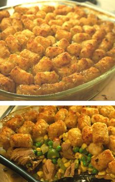 Delicious #Tater_Tot_Casserole with Turkey and Veggies