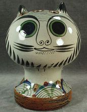 Mexican Pottery - Tonala Cat Head