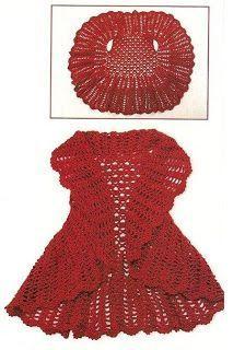 Chaleco Crochet circular - Teresa Restegui http://www.pinterest.com/teretegui/ ✔