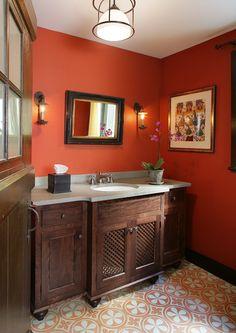 Powder Room Colors | Powder Room | John M. Reimnitz Architect PC - JRAPC