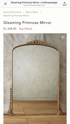 Small room: innovative ideas and tips for decoration - Home Fashion Trend Giant Mirror, Sunburst Mirror, Gold Floor Mirror, Mirror House, French Country Decorating, Country French, Country Farmhouse, Country Kitchen, Country Living