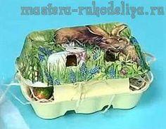 Видео мастер-класс по декупажу: Декоративная коробочка для пасхальных яиц