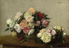 Henri Fantin-Latour, Roses in a Bowl and Dish, 1885.