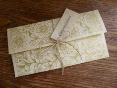 Personalised Handmade Gift Voucher Envelope by pieceofpaperthings, £4.00