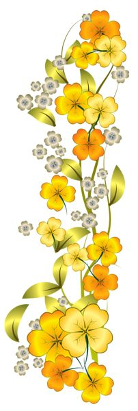 Yellow Flower Decor PNG Clipart