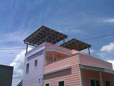 Frank Gehry Home - Brad Pitt's Make it Right Foundation.  Lumos LSX Awning.