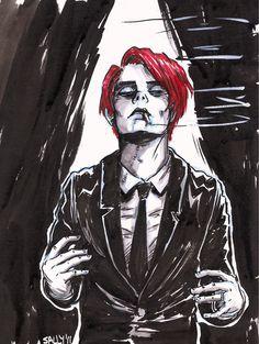 Drawing of Gerard Way
