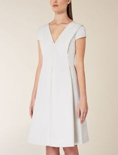 Dress for Women, Evening Cocktail Party On Sale, White, Cotton, 2017, 14 Weekend by Max Mara