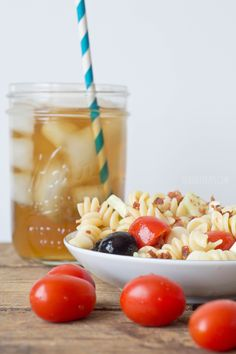 Perfect summer recipe for a cold Italian pasta salad paired with Lipton Fresh Brewed Iced Tea! #TEArifficPairs #shop #cbias