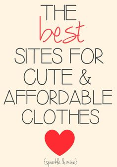 The BEST sites for super cheap trendy clothes! Apparently, read later! :)