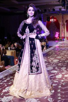 Actress Alia Bhatt during a couture show  For more images, click http://www.bigindianwedding.com/CollectionsAndTrends/Lehengas-Sarees/