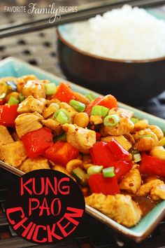 This Kung Pao chicken is so easy-- there is also instructions on how to do it in the CROCK POT!