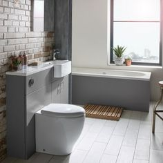 The Muse fitted furniture range, with its slab doors and smooth surfaces is designed to suit any bathroom Black Bathroom Floor, Light Grey Bathrooms, Small Bathroom Tiles, Bamboo Bathroom, Natural Bathroom, Modern Master Bathroom, Big Bathrooms, Narrow Bathroom, Public Bathrooms