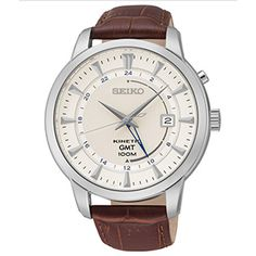 Seiko Kinetic Watch with GMT indicator / SUN041 / Powered by the movement of your body