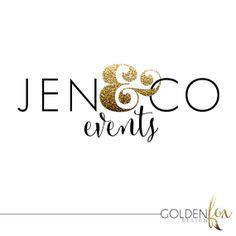 Premade logo for photographers and other small business owners, gold glitter, modern, fashion, blogger, photographer, Watermark Logo Photography by GoldenFoxDesign, $35.00