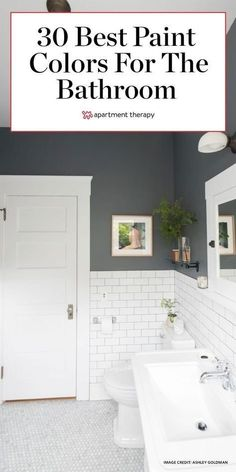 These are the very best bathroom color ideas. Pack a punch in your bathroom, thanks to these standout paint shades. #bathroom #bathroomideas #bathroompaintcolors #paintcolor #paintideas #graypaint #paintshades #bathroomdecor Best Bathroom Colors, Bathroom Color Schemes, Rustic Bathroom Designs, Bathroom Ideas, Basement Bathroom, Bathroom Paint Inspiration, Bathroom Things, Remodel Bathroom, Master Bathroom