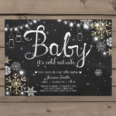 Hey, I found this really awesome Etsy listing at https://www.etsy.com/listing/258073895/baby-its-cold-outside-baby-shower