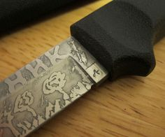 This is my new Instructable on how to Acid Etch your knife. Knife Etching video Here is what you need: - Knife- Ferric Chloride $12.50 - Nail Polish $3 - Nail Polish remover $3 - 400 grit sand paper - Tall bottle or a container - Paper towels So as you can see this project doesn't require much money, just a whole lot of fun. With a litter of Ferric Chloride you could probably etch a 150 knifes. So save it for future projects. I will have my youtube video HERE. Enjoy guys!