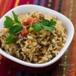 Pressure Cooker Green Chile Lime Salsa Rice