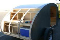 Teardrop trailer construction