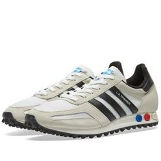 Buy the Adidas LA Trainer OG in Vintage White & Black from leading mens fashion retailer END. - only Fast shipping on all latest Adidas products. Mens Fashion Shoes, Sneakers Fashion, 80s Fashion, Los Angeles Shoes, Moda Sneakers, Marathon, Casual Shoes, Trainers, Shoe Boots