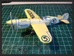 Chester Goon Racing Airplane Paper Model Free Download