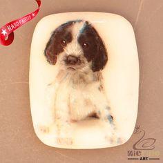 HAND PAINTED DOG HANDMADE ART PENDANT BEAD ZH20 01072 #ZL #Pendant