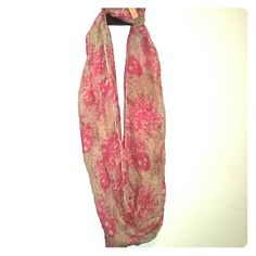 Fushia and light brown infinity scarf Beautiful scarf and very stylish. d8y Accessories Scarves & Wraps