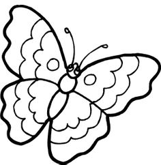 The Butterfly That Is Looking At Something Coloring Pages