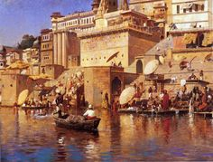 Edwin Lord Weeks - On the River Benares - 1883