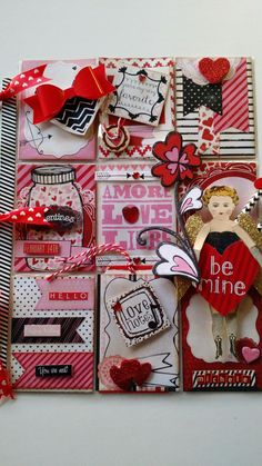 Valentine Pocket letter created by Brenda Enright. Using Character Construction doll stamps by Catherine Moore.