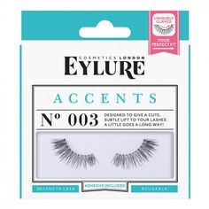 f7a16a841ae Dark and full, this sleek little style punches well above its lash weight!  Accents is full but light, the perfect (and easy to apply) day to evening  lash ...