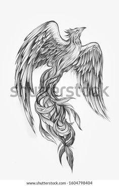 Phoenix Tattoo Sleeve, Phoenix Tattoo Feminine, Small Phoenix Tattoos, Phoenix Bird Tattoos, Sleeve Tattoos, Phoenix Tattoo For Men, Dope Tattoos, Body Art Tattoos, Tattoos For Guys