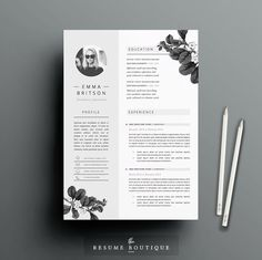 Resume Template 5 page pack | Petal by The.Resume.Boutique on @creativemarket