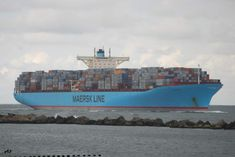 Maersk Line, Construction, Water Crafts, Transportation, Boat, Ocean, Steamers, Shipping Containers, Random Things