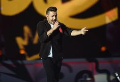 Liam on stage a the TFC Bank Stadium in Minneapolis