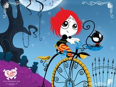 "Ruby Gloom...this show is so cute and goth?! Wtf?! It's awesome. Sorta reminds me of the ""Little Endless"" from Sandman."