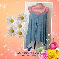 Racerback tank top  Worn 1x, in mint condition. Very soft fabric, stretchy, and comfortable. Great top for layering. Juniors size but runs big and can fit an adult XL. American Eagle Outfitters Tops Tank Tops