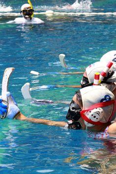 Water Hockey Water Sports, Underwater, Hockey, Outdoor Decor, Travel, Swat, Viajes, Sea Sports, Trips