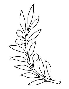 Use The Printable Outline For Crafts, Creating Stencilsu2026  Loose Leaf Template