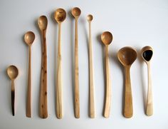 Beautiful handcrafted wooden spoons by Nic Webb, for LinMorris
