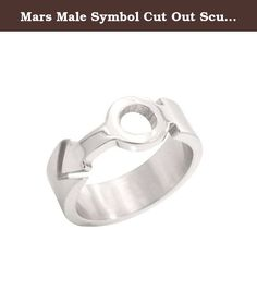 Mars Male Symbol Cut Out Sculpted Ring - Gay Pride Steel Ring Male Gay Pride Ring. High quality steel ring band for Gay Guys. LGBT Rainbow Pride Jewelry is Great for the Gay parade or as a Gay Gift to Celebrate Gay love, Bear Pride and Same-Sex Wedding Marriage Equality. SIZE (8). Beautifully designed ring crafted in polished stainless steel. It has a unique three dimensional puzzle effect. (Approx 7mm in width).