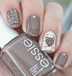 nailstorming ootd - chocolate and cream mouse nails