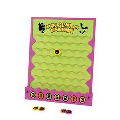Need a fun game to play for your Halloween party? Great for classroom or home use, our Halloween disk drop game is fun and easy to play! To score points, . Halloween Tags, Halloween Carnival Games, Diy Carnival, Halloween Wishes, Halloween Games For Kids, Halloween Party Favors, Halloween Birthday, Halloween Ideas, Halloween 2020