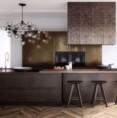 Chocolate brown kitchen