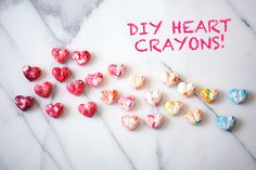 DIY heart crayons for Valentine's Day | 100 Layer Cakelet
