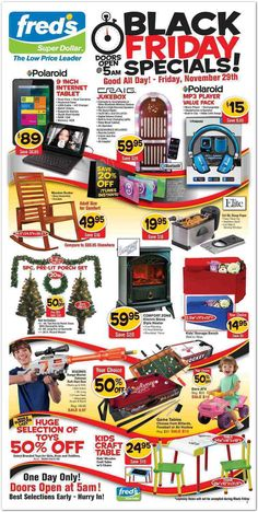 Fred's Black Friday Ad